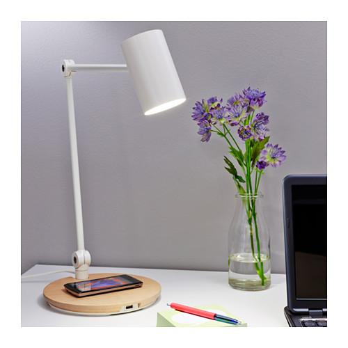 Image result for Ikea RIGGAD wireless charging work lamp