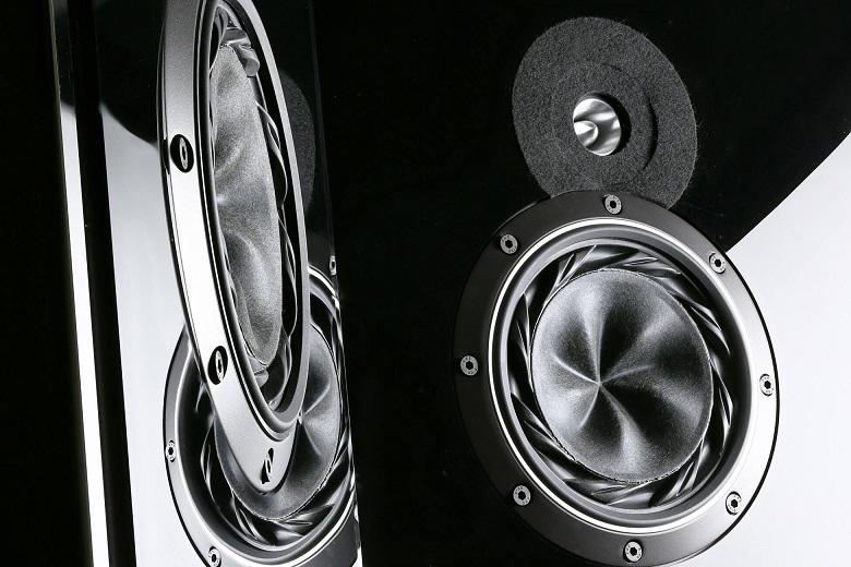 two black speakers side by side