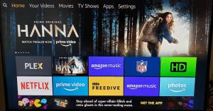 screenshot of fire tv with plex and netflix